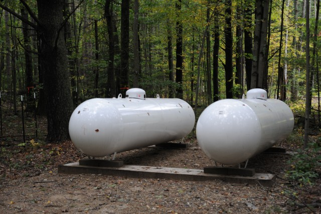[By the end of September 2008, we had our control sheds built and our two 1000-gallon propane tanks installed.]